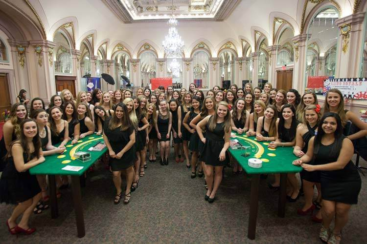 The Lovely Ladies Of Alpa Delta Pi Host A 007 Inspired Casino Party