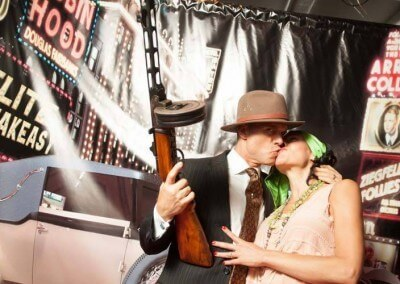 Grab a Prop and Have Fun with Our Speakeasy Themed Photo Booth!