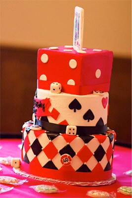 Classic casino night cake