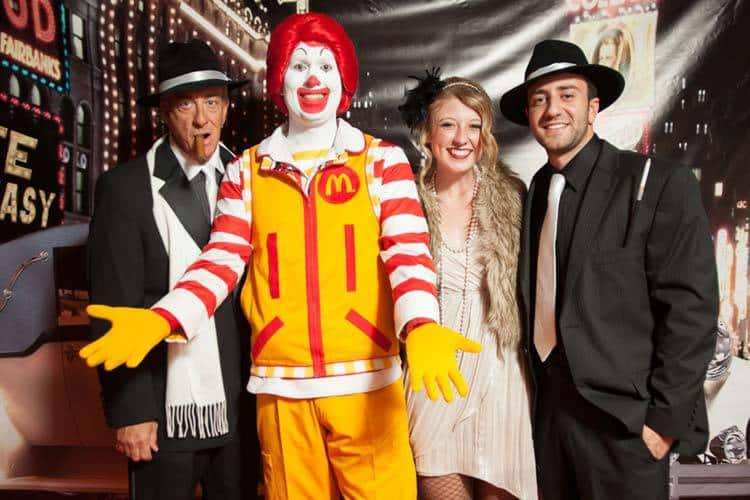Even Ronald McDonald is getting in on the Speakeasy photo booth fun!