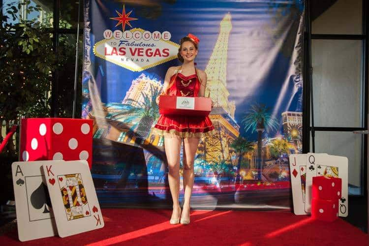 Our Cigarette Girl on the Red Carpet | Las Vegas Photo Booth