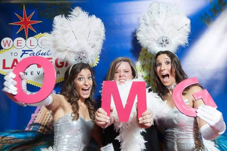 Showgirls Having Fun with The Las Vegas Photo Booth!
