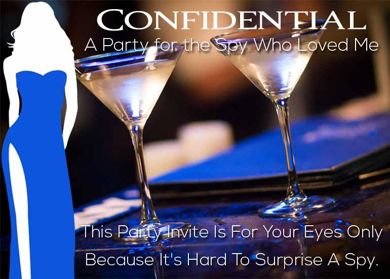 James Bond Party / Customized Invitations