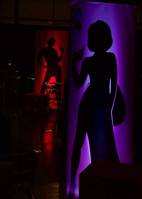 """James Bond Party 7"""" Freestanding Display by Elite Casino Events"""