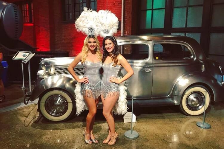 Elite Casino Events Showgirls are ready for a party at Heinz History Center, Pittsburgh PA