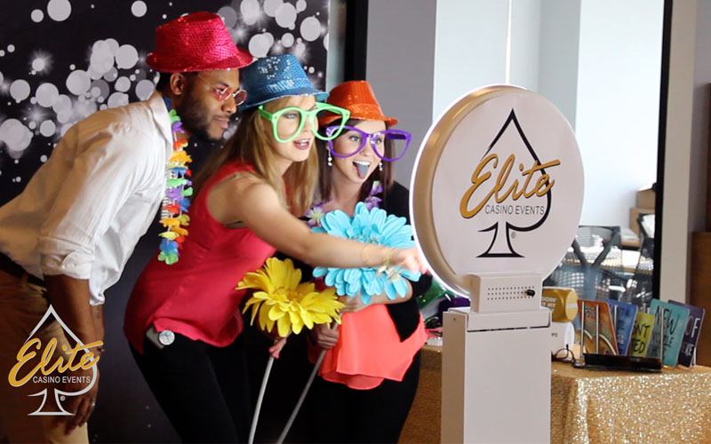 Casino event photo booth