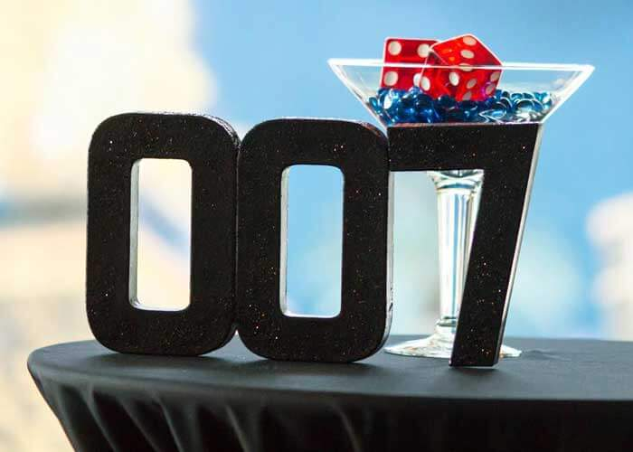James Bond Party Decor