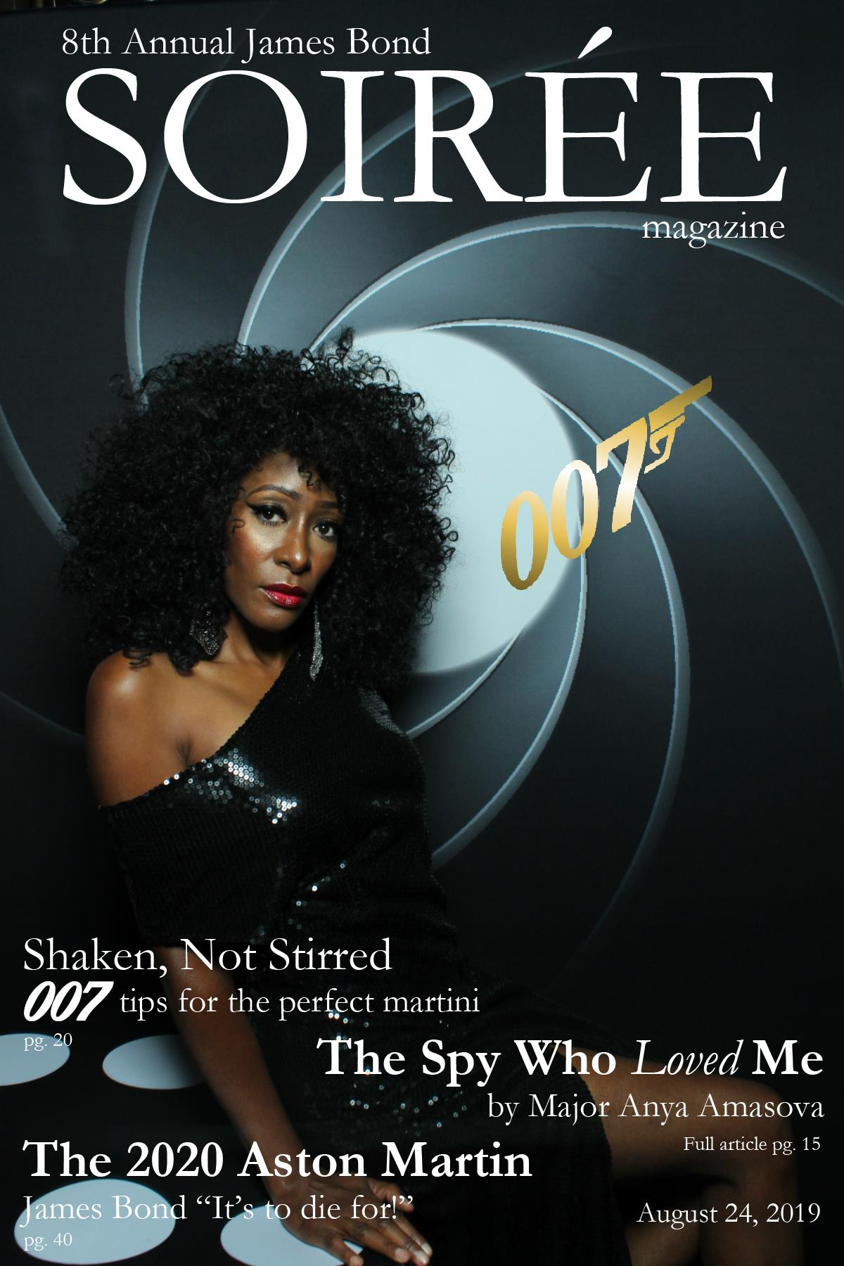 ames Bond Soiree, James Bond Decor, Soiree James Bond, James Bond Theme Pittsburgh, James Bond Theme Casino Night, Magazine Cover
