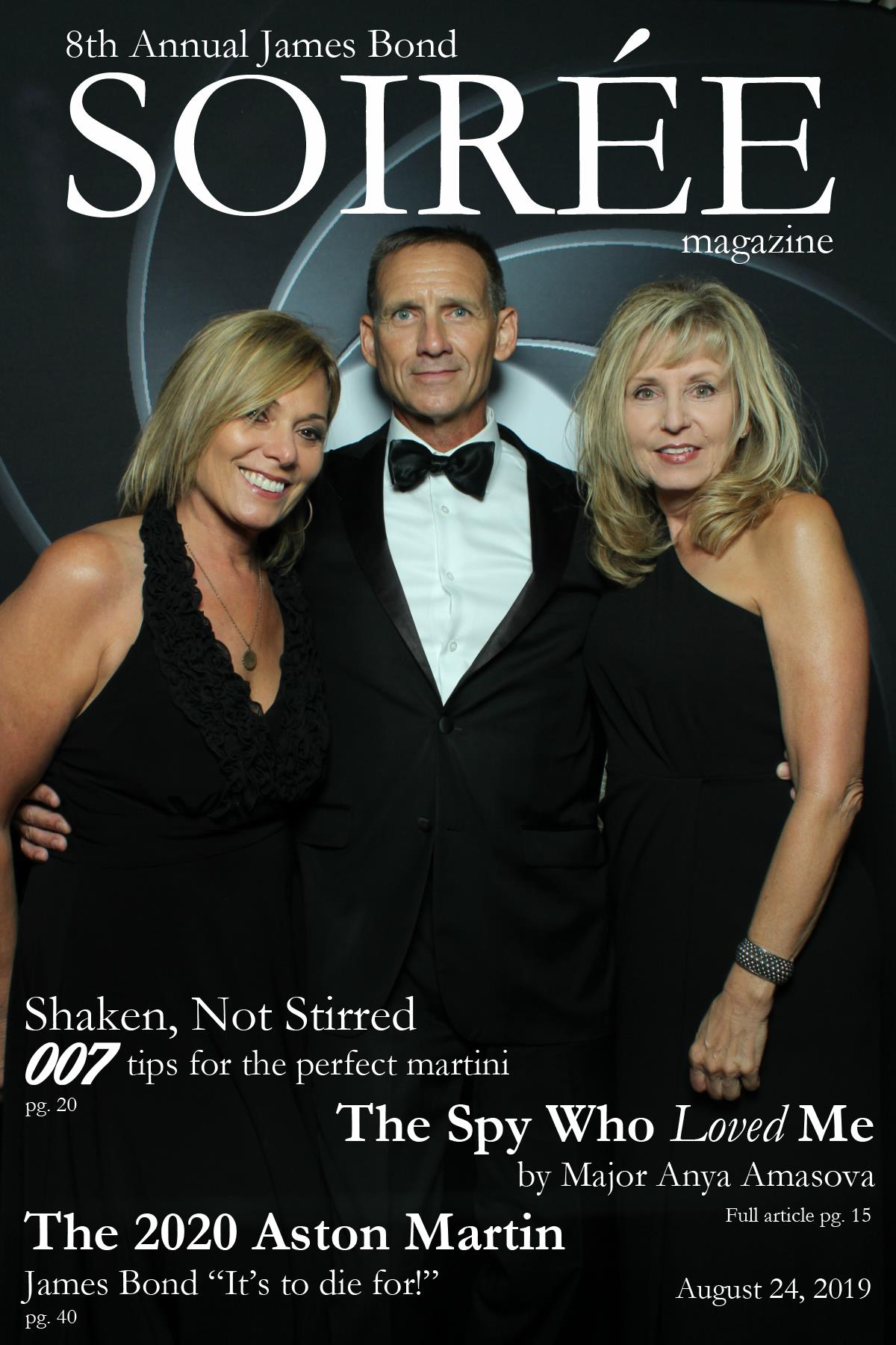 James Bond Soiree Magazine Cover, James Bond Look Alike, Bond Theme Night Pittsburgh