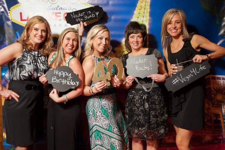 VP Billy Takacs with the Guests of Honor | Las Vegas Photo Booth