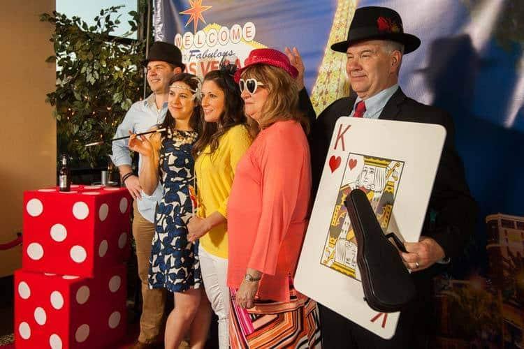 Girls Having Fun with Props   Las Vegas Photo Booth