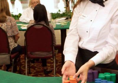 Renee deals roulette