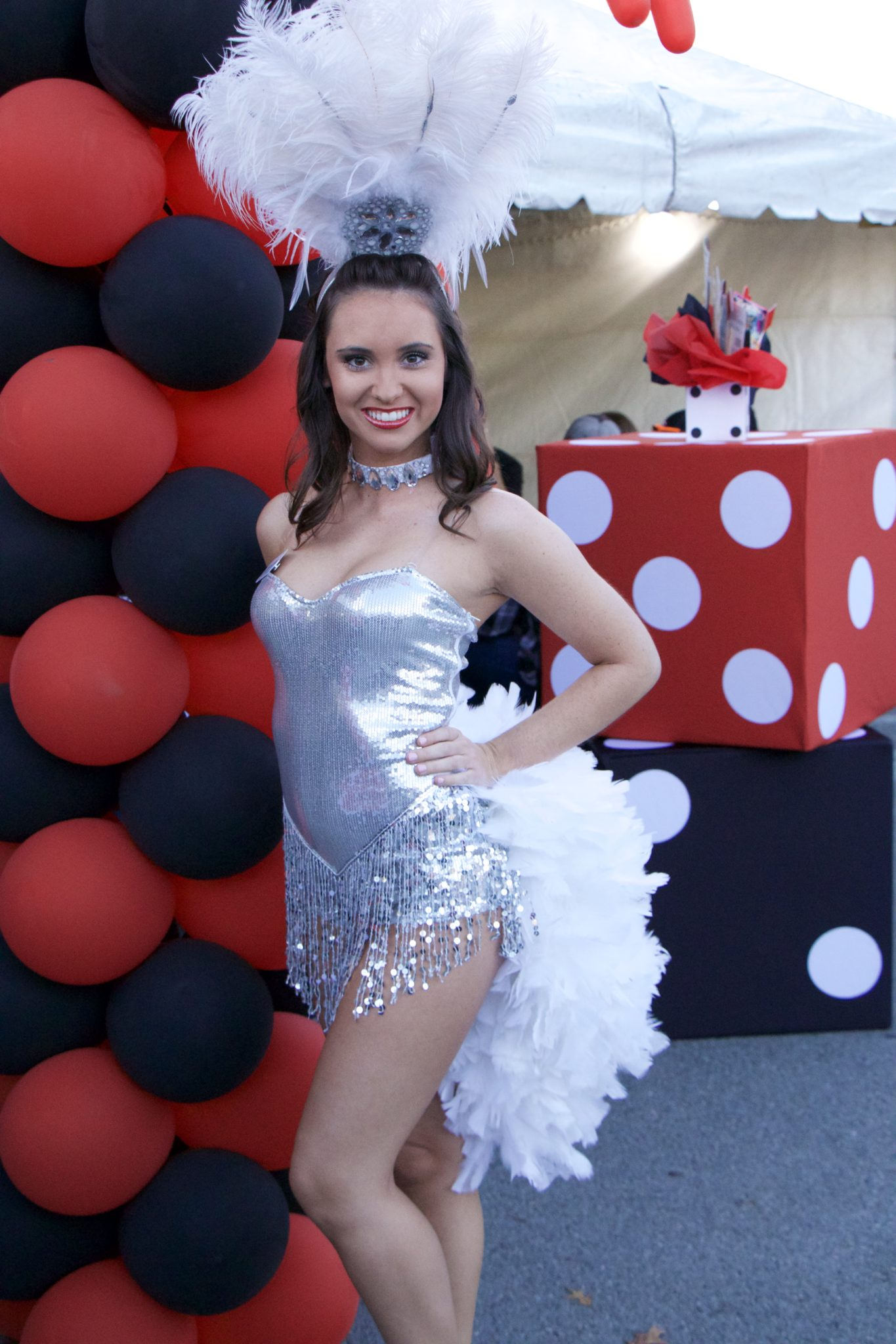show girl, casino show girl, party entertainment, entertainers