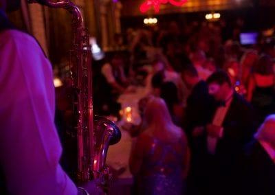 Roger Romero plays sax
