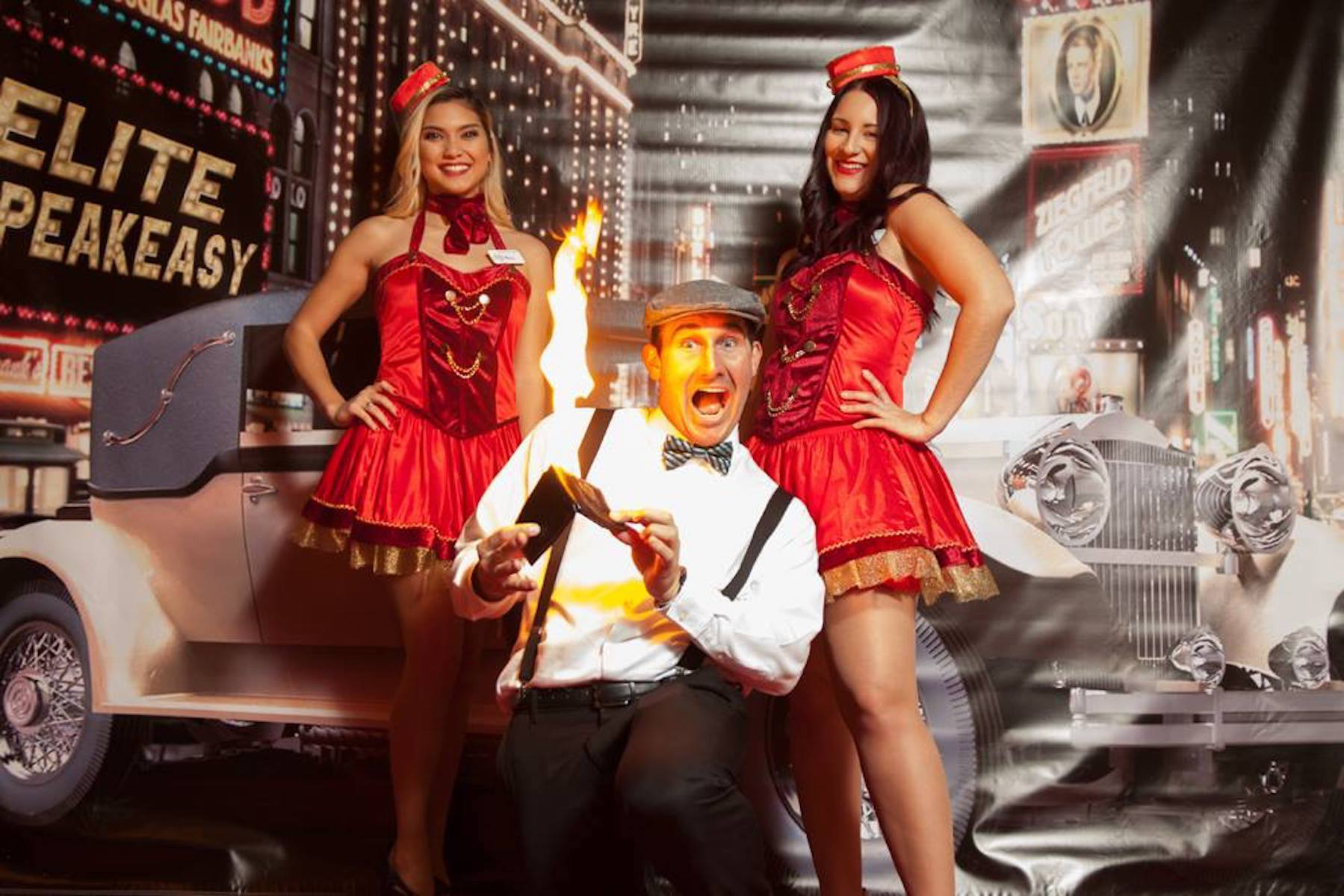 1920s Magician is on fire!