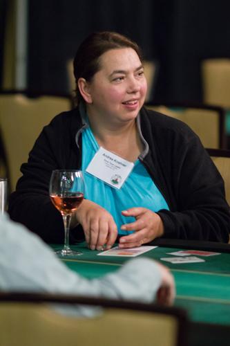 Texas Hold'em poker tournament player